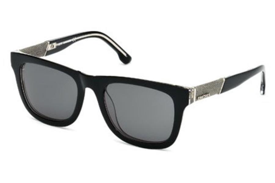 Diesel Sunglasses 100/% UV Protection Black Gray Men Rectangular DL0050 03A
