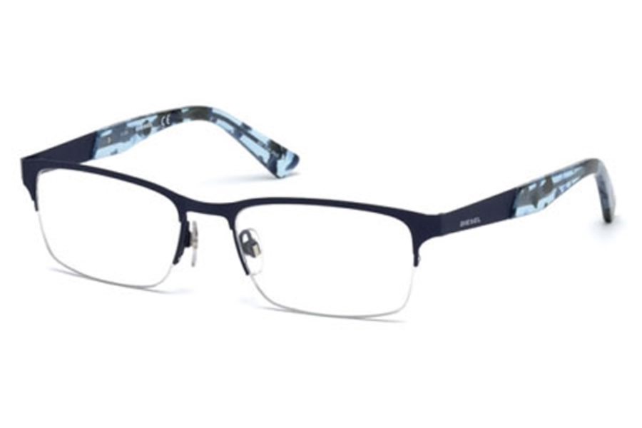 Diesel DL 5235 Eyeglasses in 091 - Matte Blue (Discontinued)