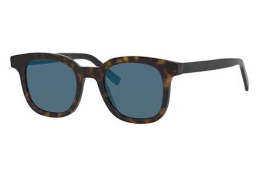 f0d9ba9f7e5ef Dior Homme Blacktie 219S Sunglasses in 0KVX Dark Havana Black (2A blue  mirror ap lens ...