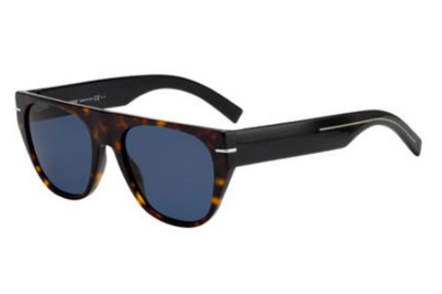 Dior Homme Blacktie 257S Sunglasses in 0086 Dark Havana (KU blue avio lens)