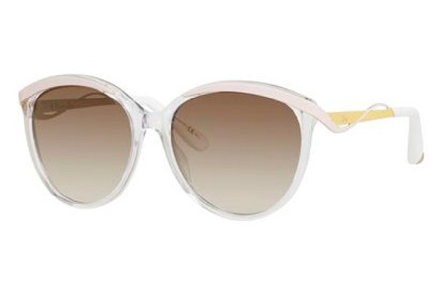 Christian Dior Diormetaleyes-1 Sunglasses in 06OB Crystal / Pink (IQ brown silver sp lens)