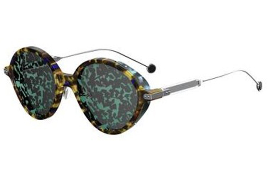 Christian Dior Diorumbrage Sunglasses in 00X8 Blue Havana Palladium (TW green md lens)