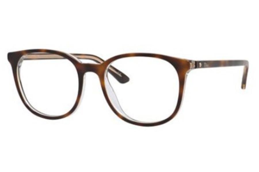 87be5530041 Christian Dior Montaigne-34 Eyeglasses in 0U61 Havana Crystal ...