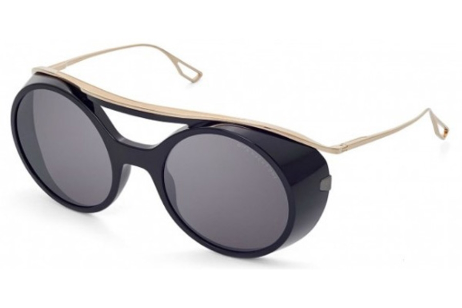 Dita Nacht-One Sunglasses in Black/White Gold / Grey - Black Flash