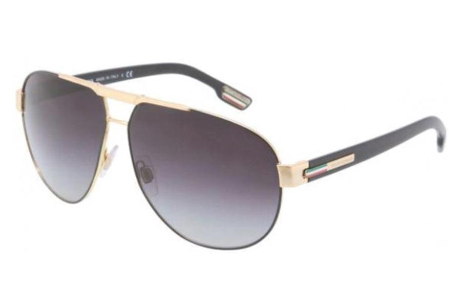 33fa9b8cf74 Dolce   Gabbana DG 2099 Sunglasses in 10818G GOLD BLACK GRAY GRADIENT ...