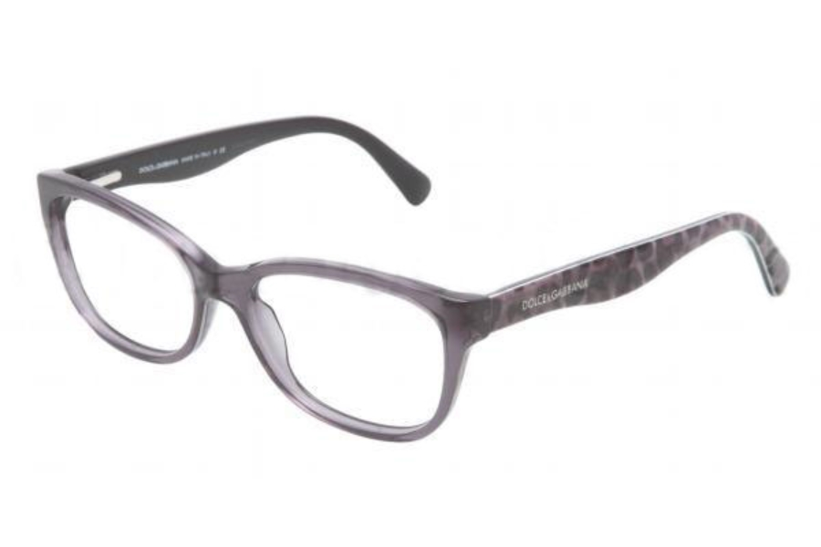 30c3da84b88f ... Dolce   Gabbana DG 3136 Eyeglasses in 1861 TRANSPARENT GRAY DEMO LENS ( 53 eye size ...
