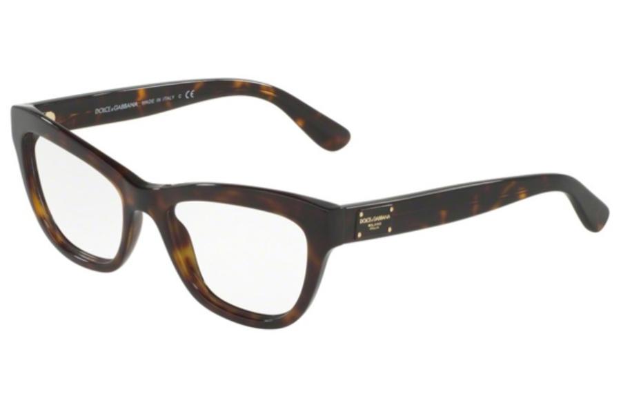 cb19b033fff6 ... 501 Black  Dolce   Gabbana DG 3253 Eyeglasses in 502 Havana ...