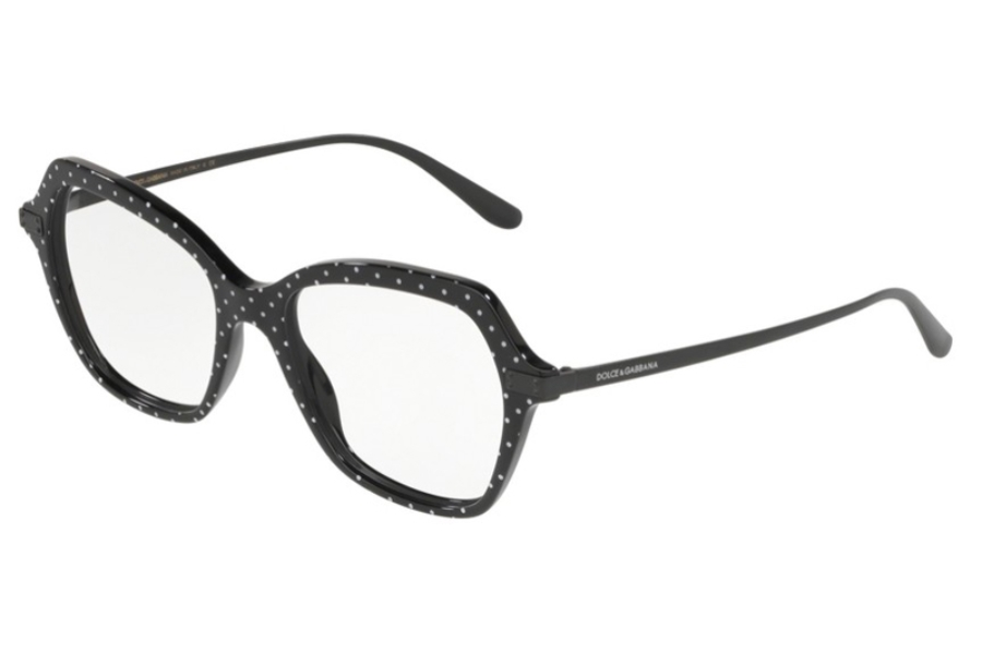 Dolce & Gabbana DG 3311 Eyeglasses in 3126 Pois White On Black