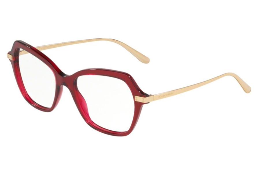 Dolce & Gabbana DG 3311 Eyeglasses in 3211 Transparent Bordeaux