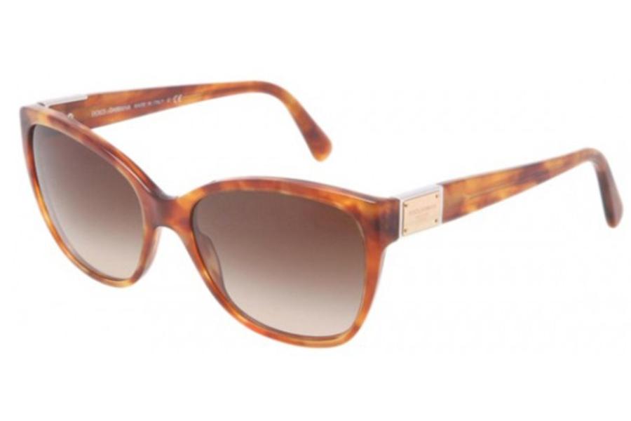 b883380460e2 ... Dolce   Gabbana DG 4195 Sunglasses in 706 13 Light Havana Brown Gradient  ...