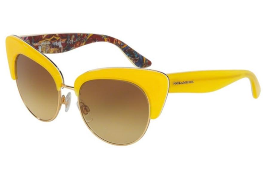 caca637aed8 ... Dolce   Gabbana DG 4277 Sunglasses in 30352L Top Yellow Handcart    Yellow Gradient ...