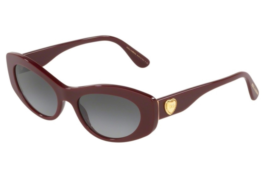 Dolce & Gabbana DG 4360F Sunglasses in 30918G Bordeaux w/Grey Gradient