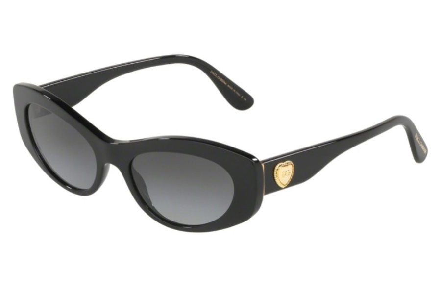 Dolce & Gabbana DG 4360F Sunglasses in 501/8G Black w/Grey Gradient