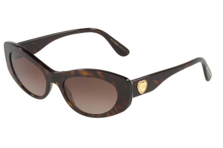 Dolce & Gabbana DG 4360F Sunglasses in 502/13 Havana w/Brown Gradient