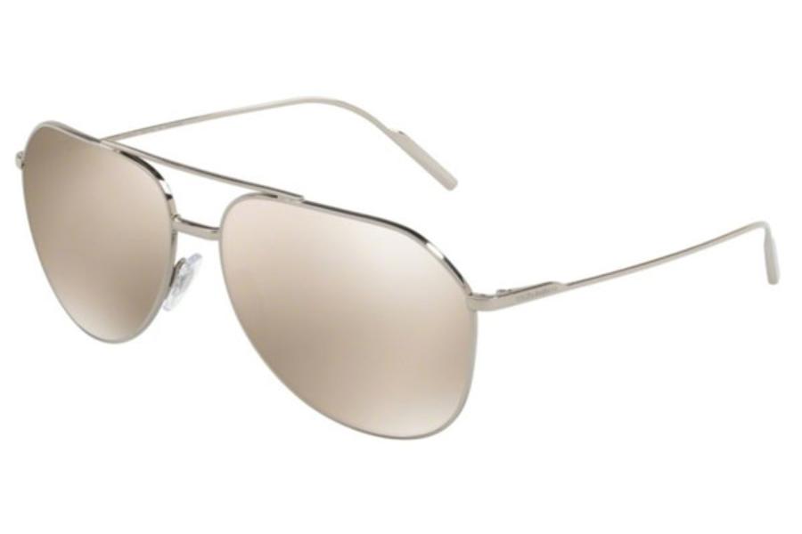 915159c3520f Dolce   Gabbana DG 2166 Sunglasses in K05 6G Silver Plated Gold   Grey Mir  ...