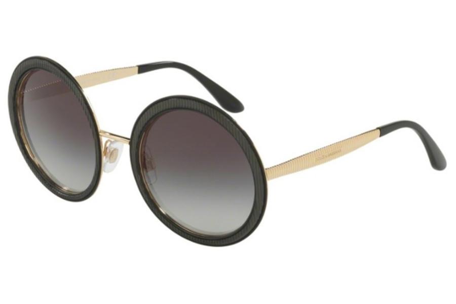 790e8b8ac136 ... Gold / Pink Gradient; Dolce & Gabbana DG 2179 Sunglasses in 13128G  Black / Grey Gradient ...