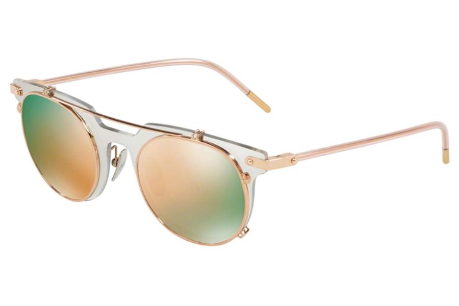 919f1d54c654 ... Dolce & Gabbana DG 2196 Sunglasses in 12984Z Clear Mirror Flash  Silver/Grey Mirror Rose ...