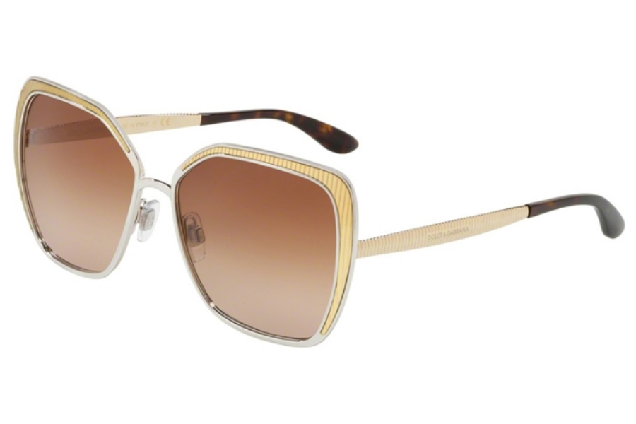 9500589cafeb Dolce   Gabbana DG 2197 Sunglasses in 131313 Silver Brown Gradient ...