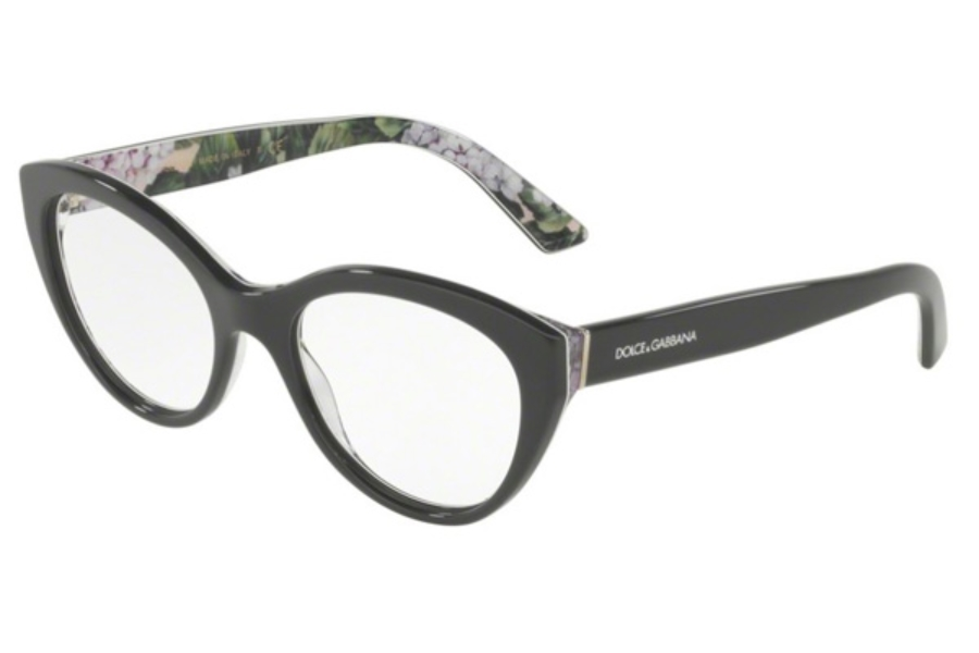 6c007a6d85c Dolce   Gabbana DG 3246 Eyeglasses in 3161 Grey On Print Hydrangea ...