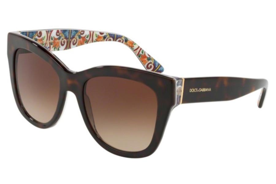 af749cc38 ... Dolce & Gabbana DG 4270 Sunglasses in 317813 Havana On New Maiolica /  Brown Gradient ...