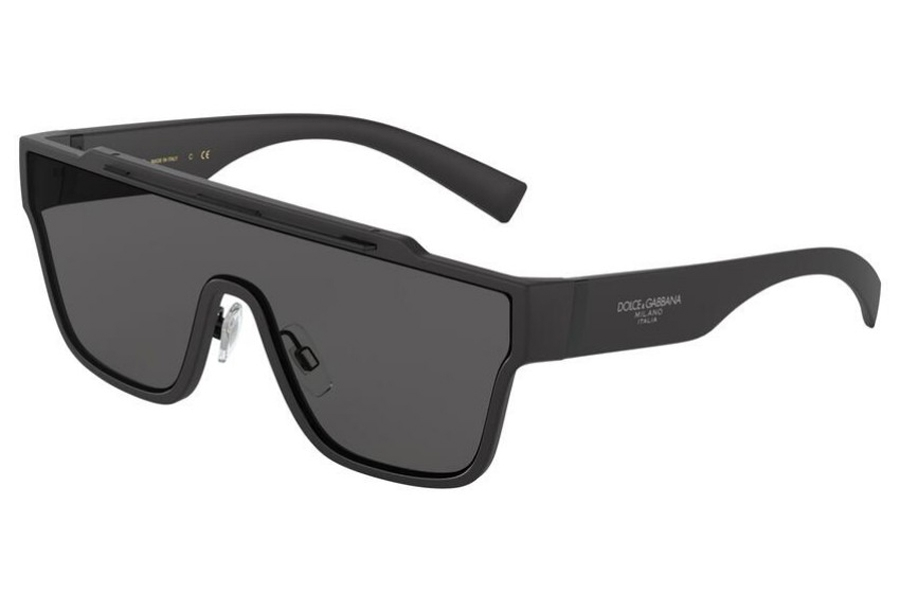 Dolce & Gabbana DG 6125 Sunglasses in 252587 Matte Black / Grey