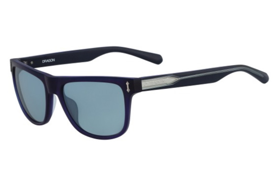 Dragon DR514S BRAKE Sunglasses in 400 Matte Crystal Navy/Blue