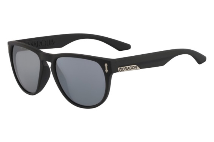 Dragon DR MARQUIS 2 Sunglasses in 049 Matte Black Silver Ion