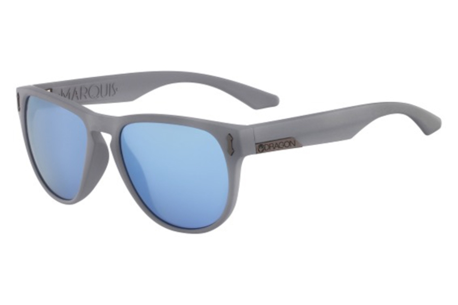 Dragon DR MARQUIS 2 Sunglasses in 204 Grey Matter/Sky Blue Ion
