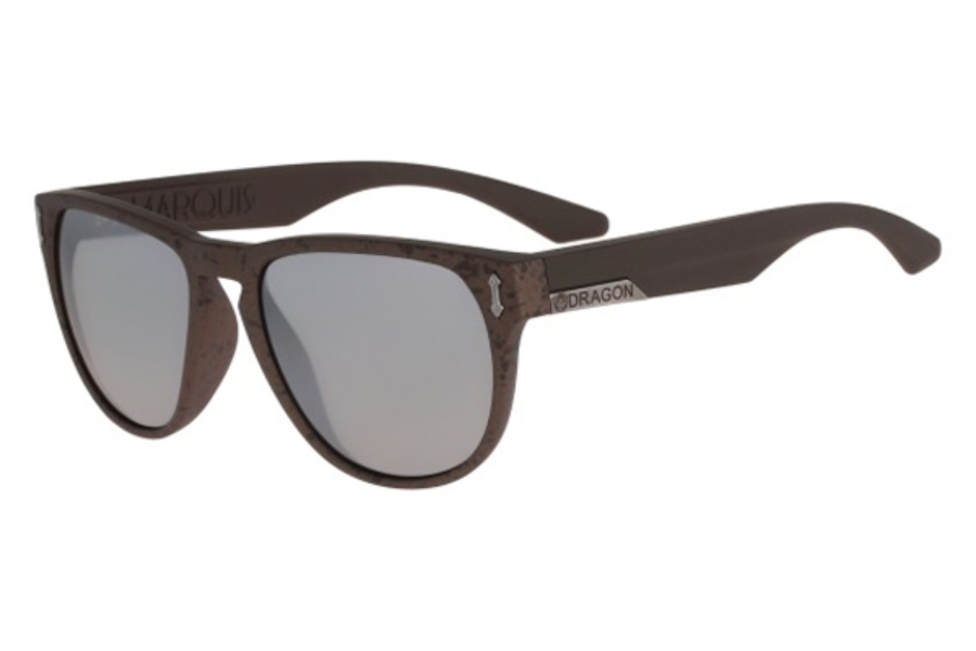 Dragon DR MARQUIS 2 Sunglasses in 917 Matte Copper Marble Silver Ion
