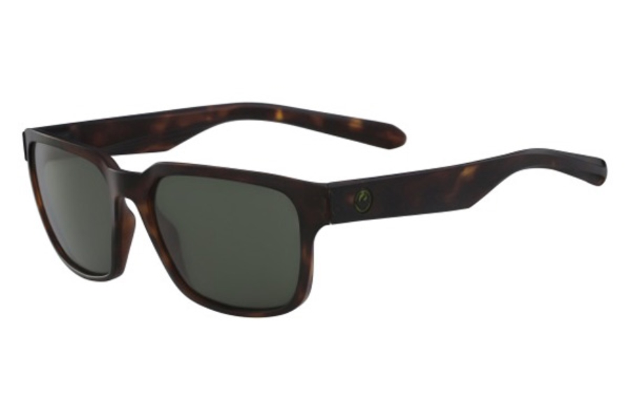 Dragon DR REFLECTOR Sunglasses in 244 Matte Tortoise/Green