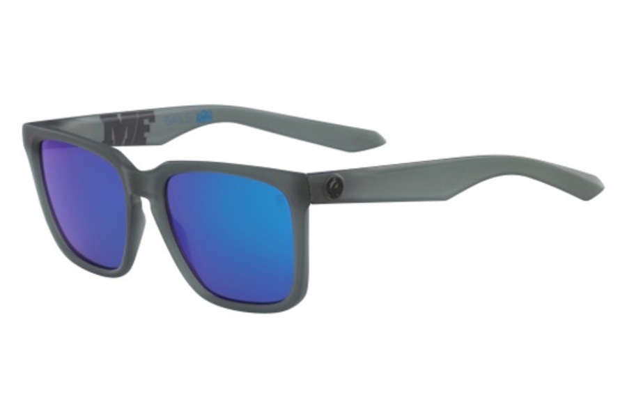 Dragon DR BAILE H2O Sunglasses in 416 Matte Crystal Shadow/Blue Ion