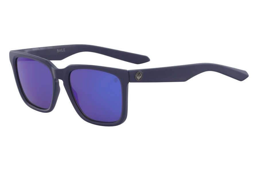 Dragon DR BAILE POLAR Sunglasses in 416 Matte Deep Navy Blue Ion