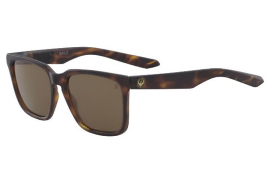 Dragon DR BAILE POLAR Sunglasses in 245 Matte Dark Tortoise With Brown Polarized Lens