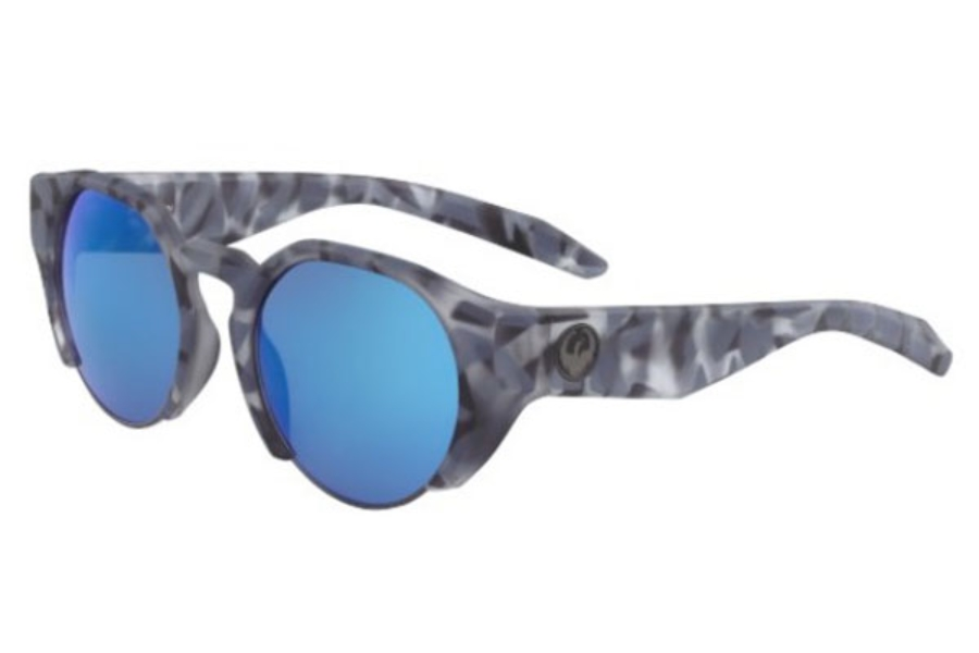 Dragon DR COMPASS ION Sunglasses in 462 Matte Midnight Tortoise With Blue Ion Lens