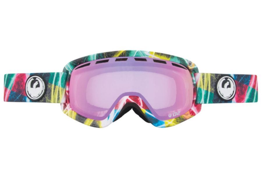 Dragon D2 - Continued Goggles in Light Show / Pink Ion + Yellow Blue Ion