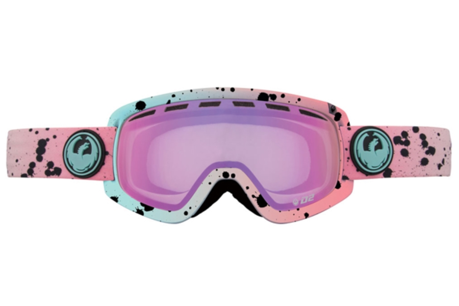 Dragon D2 - Continued Goggles in Splatt / Pink Ion + Yellow Blue Ion