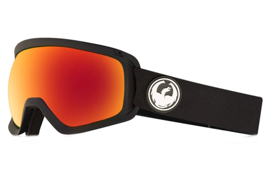 Dragon D3  - Continued Goggles in Black / Lumalens Red Ion + Lumalens Rose