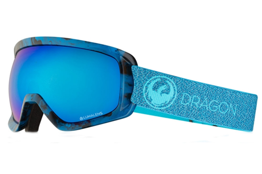 Dragon D3  - Continued Goggles in Mill / Lumalens Blue Ion + Lumalens Amber