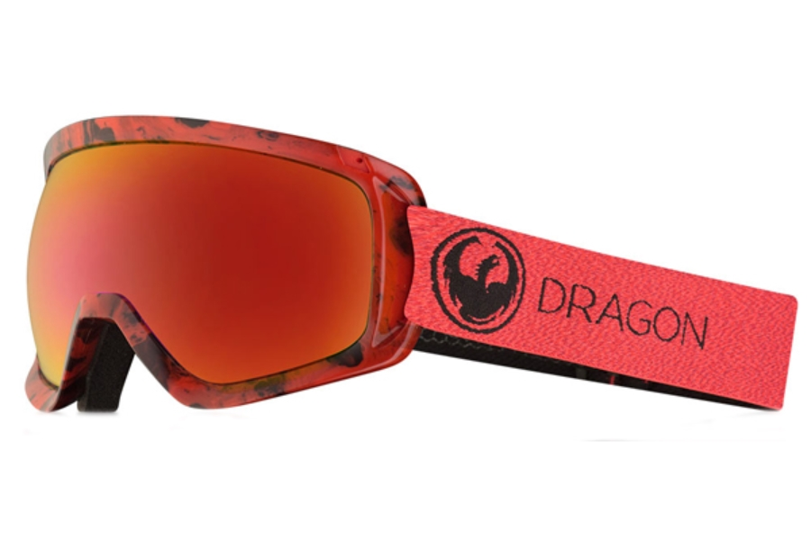 Dragon D3  - Continued Goggles in Mill / Lumalens Red Ion + Lumalens Rose