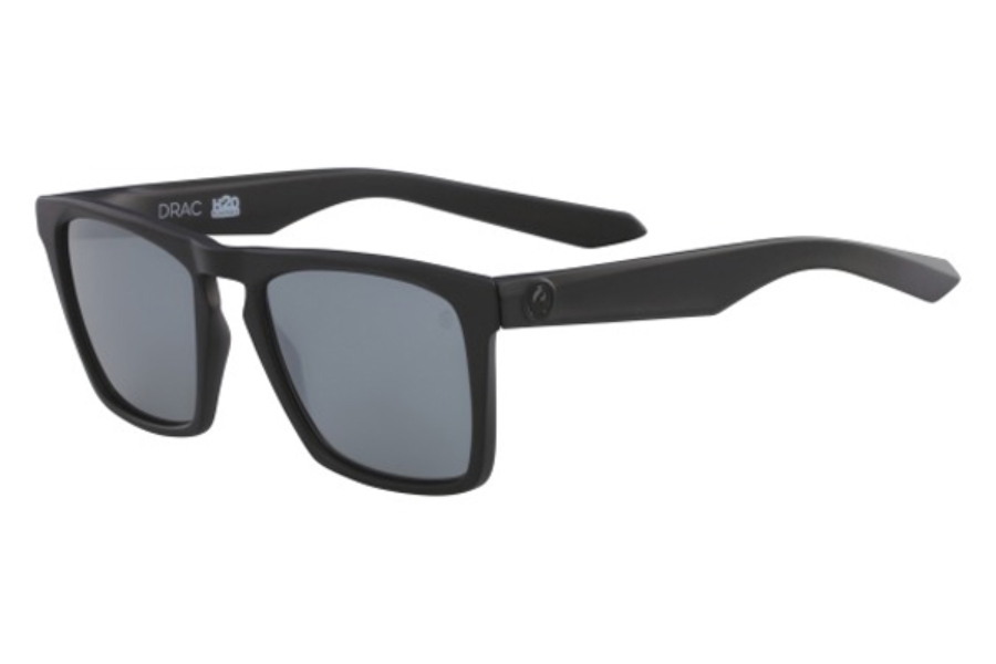 Dragon DR DRAC H2O Sunglasses in 006 Matte Black/Silver Ion