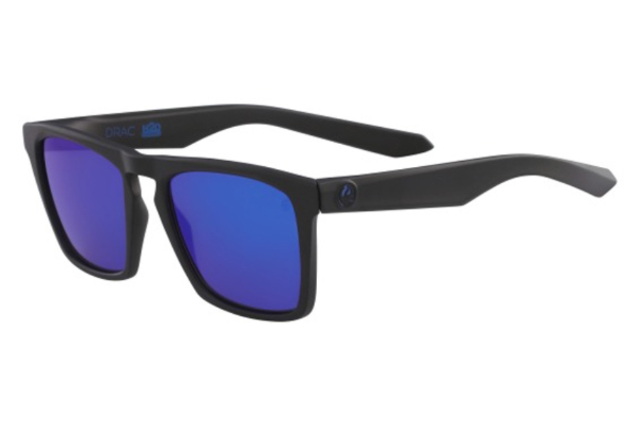 Dragon DR DRAC H2O Sunglasses in 007 Matte Black/Blue Ion