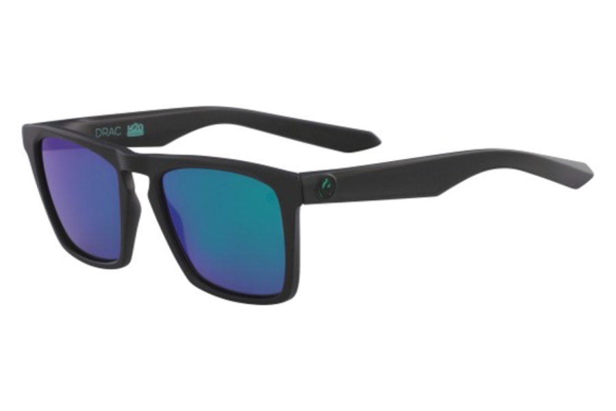 Dragon DR DRAC H2O Sunglasses in 008 Matte Black/Green Ion