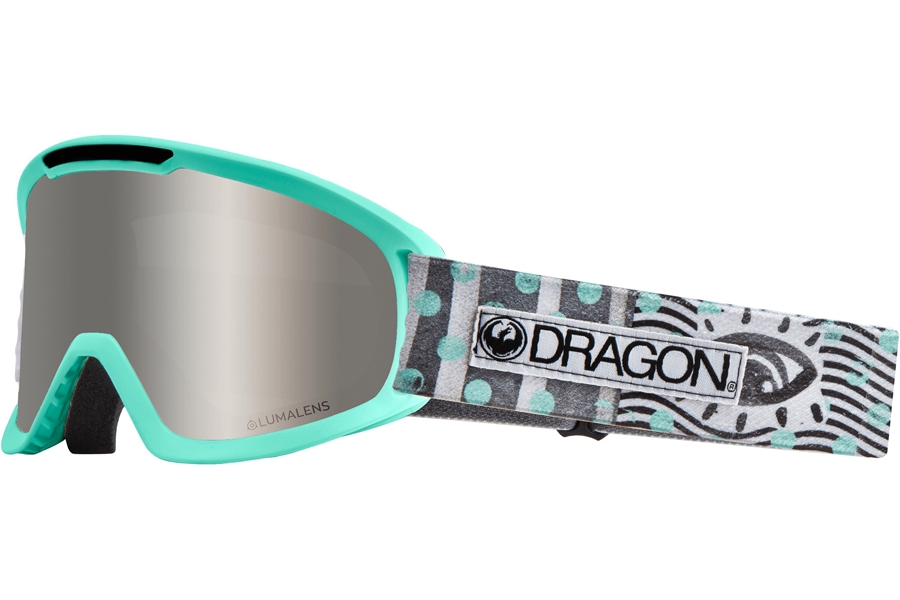 Dragon DX2 - Continued Goggles in New Wave W/ Silver Ion & Dark Smoke