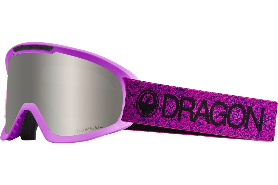 Dragon DX2 - Continued Goggles in Violet W/ Silver Ion & Dark Smoke