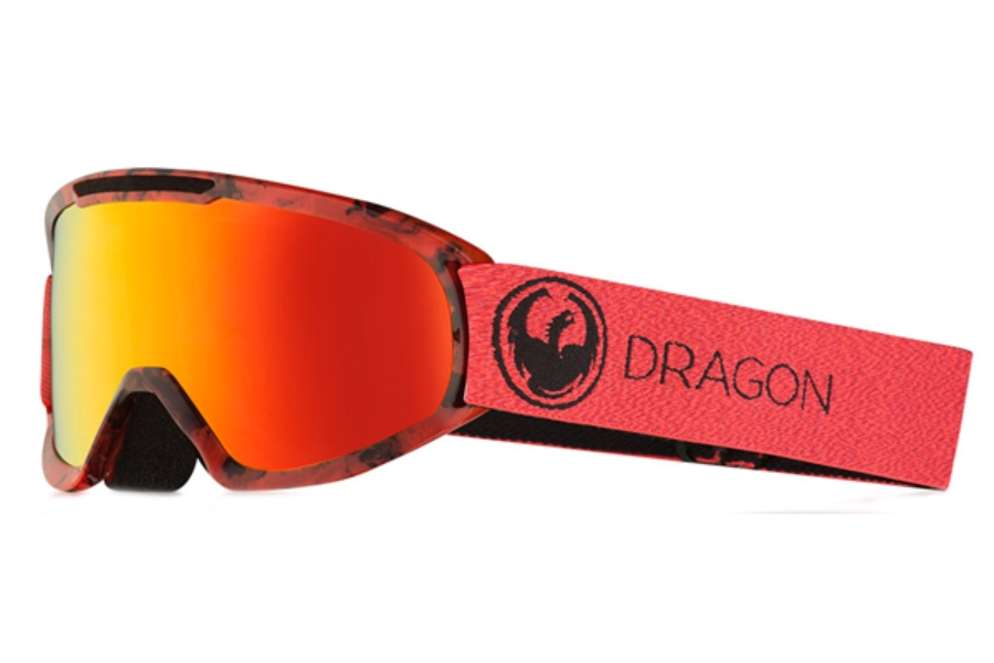 Dragon DX2 - Continued Goggles in Mill / Lumalens Red Ion + Lumalens Rose