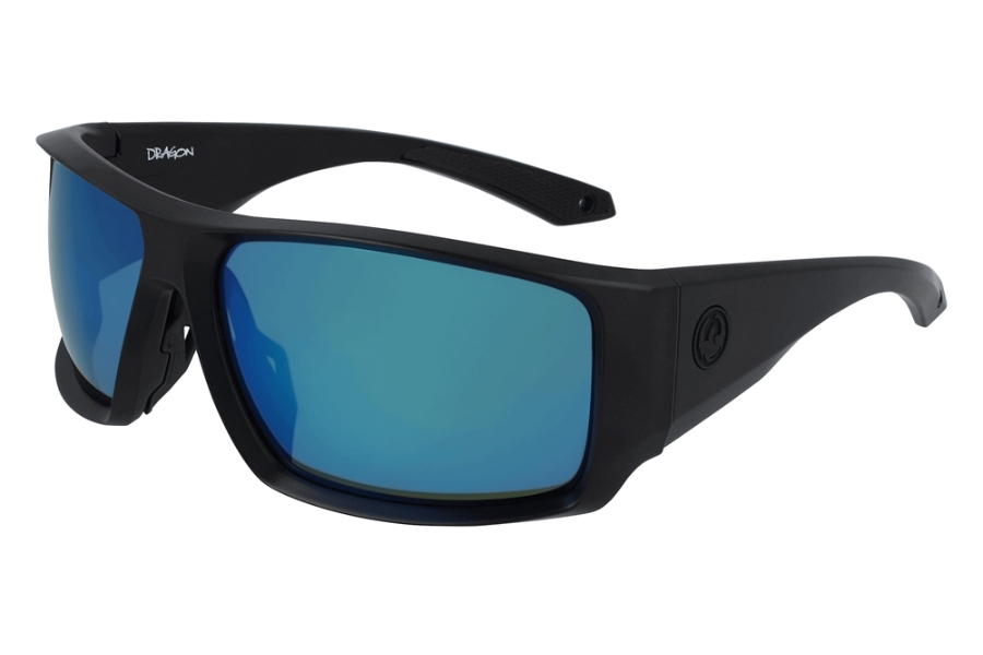 Dragon DR EQUINOX X LL POLAR Sunglasses in 007 Matte Black w/Deep Green Ion