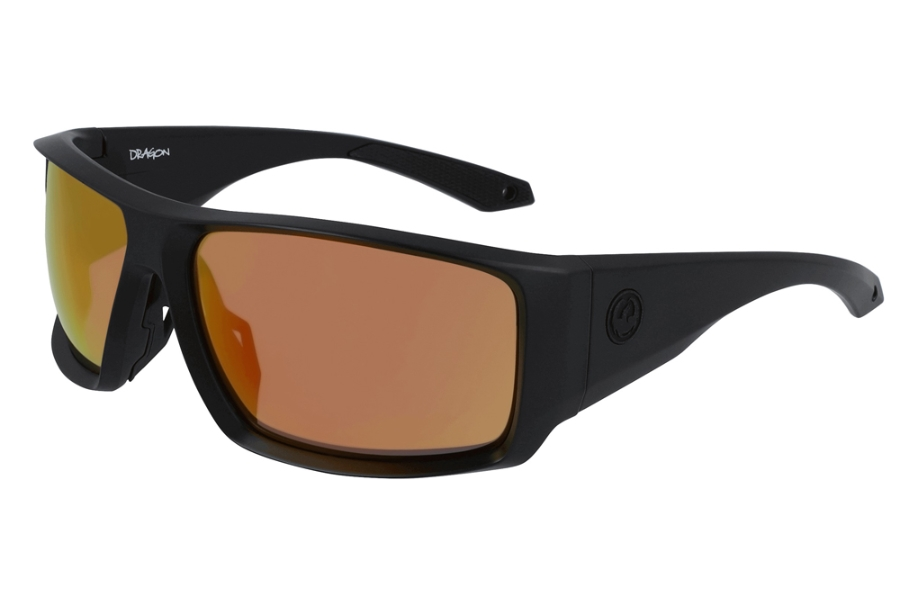 Dragon DR EQUINOX X LL POLAR Sunglasses in 022 Matte Black w/Orange Ion