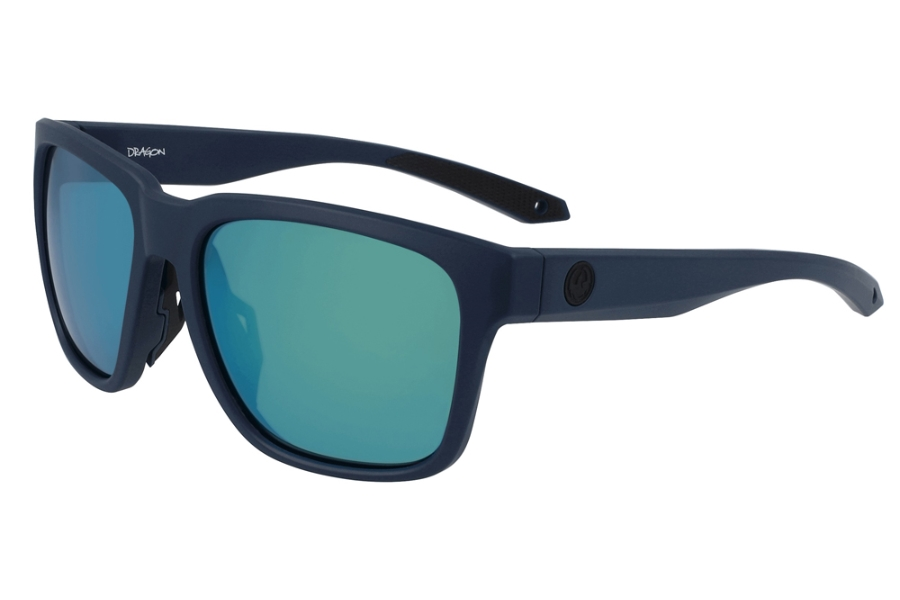 Dragon DR MARINER X LL Sunglasses in 422 Matte Navy w/Deep Green Ion Polar