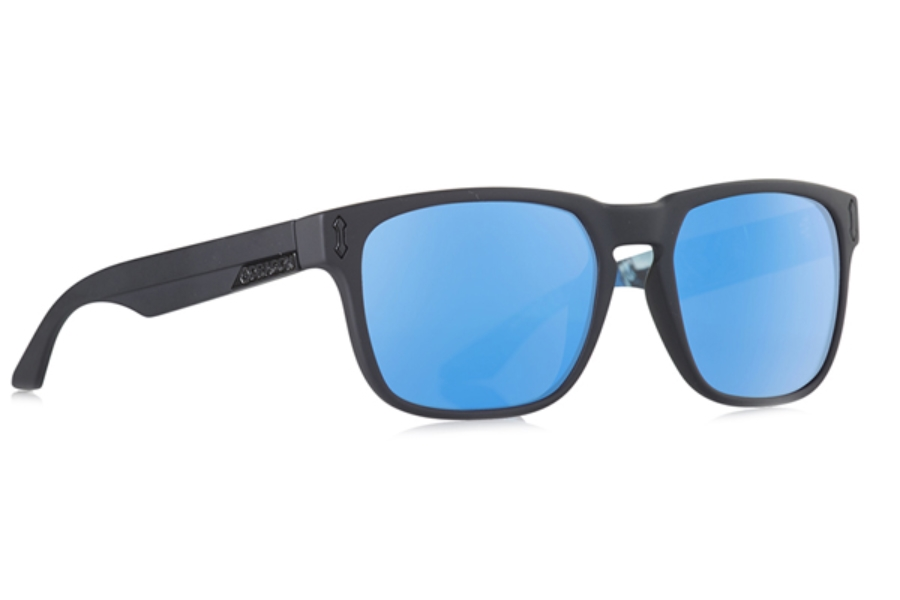 Dragon MONARCH Sunglasses in Bryan Matte Black/Blue Ion