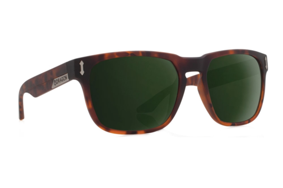 Dragon MONARCH Sunglasses in Matte Tortoise/Green